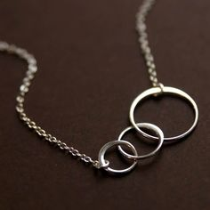 Crescent Necklace - Sterling Silver
