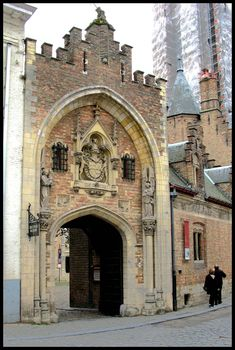 Outside Doorway to the Gruuthuse Museum Bruges, Belgium Bruges, Luxembourg, Architectural Features, Antwerp, Beautiful Buildings, Barcelona Cathedral, World Heritage Sites, Architecture, Netherlands