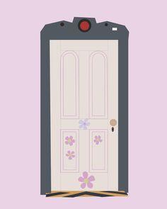 Boo's door.. monster's inc.. girl bedroom.. by studiomarshallarts, $3.50