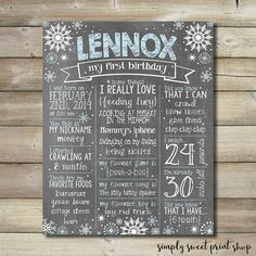 Hey, I found this really awesome Etsy listing at https://www.etsy.com/listing/214222262/first-birthday-chalkboard-poster-boy