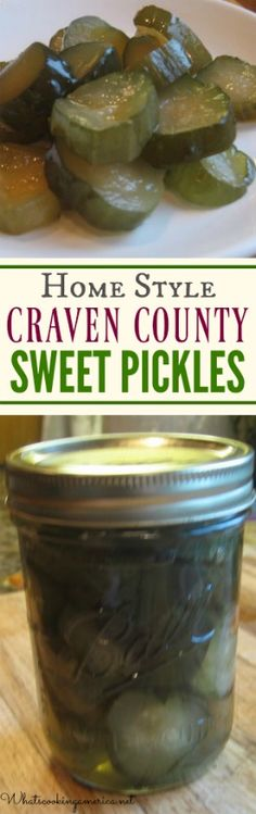 Craven County Sweet Pickles Recipe | whatscookingamerica.net | #sweet #pickles #canning