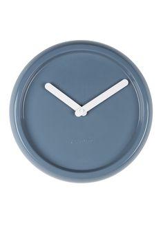 Ceramic time clock Blue