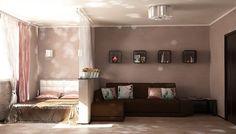 """гостиная и спальня в одной комнате - """"Google"""" paieška"""