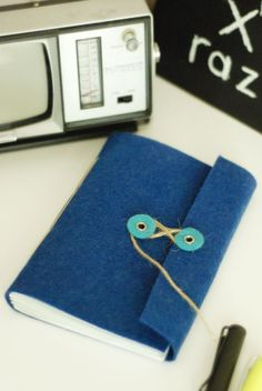 Keçe Kapaklı Defter / Handmade notebook with felt cover