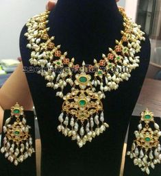 Jewellery Designs: New Pattern Gottapusalu Set
