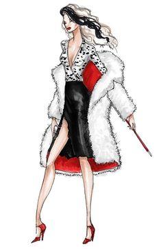 Integrity Toys, Inc and Jason Kramer-Fashionably Ruthless Tatyana Dress Design Sketches, Fashion Design Drawings, Fashion Sketches, Evil Disney, Disney Art, China Fashion, Fashion Art, Disney Decendants, Celtic Warriors