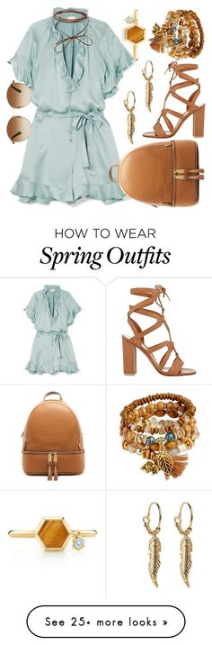 """minty spring"" by letras-gigantesgdl on Polyvore featuring Zimmermann, Gianvito Rossi, MICHAEL Michael Kors, Birks and Gucci"