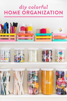 DIY Colorful Home Organization - Sarah Hearts