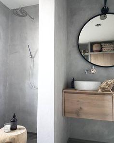 Modern Scandinavian Bathroom Interior In White - Interior Design Ideas & Home Decorating Inspiration - moercar Bad Inspiration, Bathroom Design Inspiration, Modern Bathroom Design, Bathroom Interior Design, Modern Design, Design Ideas, Bath Design, Bathroom Taps, Grey Bathrooms