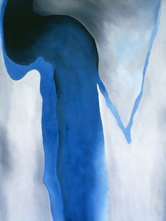 Georgia O'Keeffe, Blue Black and Grey, 1960 / Georgia O'Keeffe Museum. Santa Fe