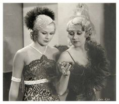 Pre-code Ginger Rogers and Joan Blondell George Brent, Pre Code, Ginger Rogers, Hollywood Studios, Beauty Pageant, Old Movies, Classic Beauty, Classic Hollywood, American Actress