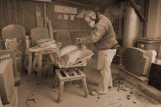 Vorarbeiten Steinschale | #Naturstein #Werkstatt #Steinmetz