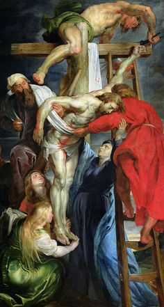 The Descent From The Cross Painting by Rubens