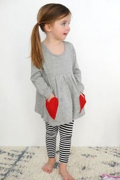 Make this DIY No-Sew Valentine Heart Pocket Shirt in a few minutes!
