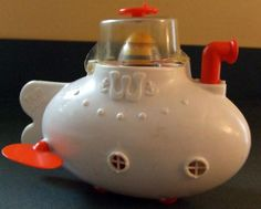 Lilter.com - Price Vintage Weeble Wobble Tub Sub Submarine Weebicle Scuba Diver