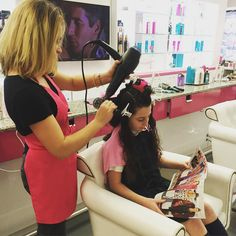 Looks like school is out! BLO/OUT stylist Katie hard at work!   #bloout #blowdrybar #blowdry #blowout #longhair #hairgram #hairfashion #hairpost #phillyhair #phillyhairstylist #phillysalon #fb #twitter