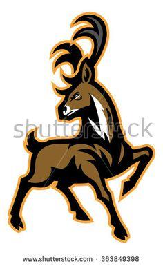 Buck mascot with big antler