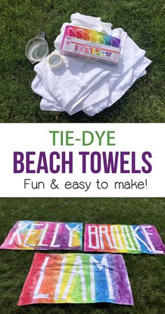Personalized Beach Towels Using Tape! (Fun & Easy Tie-Dye Project For Teenagers & Older Kids)