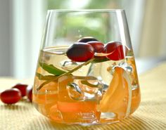 Recipe Instructions:        2 medium sized oranges sliced     Handful of Cranberries ( I pierce mine down the center)    An herb of your choice  (rosemary, sage,mint,  bay leaves are suggestions)        Place in to a large spa water pitcher or infusion device with approximately 2 liters of water.  Best if you can let it steep over night.  Garnish with herbs or a piece of sliced orange on the side of the glass for a classy touch.