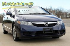 Check out this 2009 Honda Civic EX in Blue from First Auto Credit in , MO 63755. It has an automatic transmission. Engine is 1.8L SOHC 16-valve I4. Call Customer Service at (573) 204-7777 today!