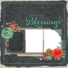 "Copper Blossom Paperie: Free Blessings 12""x12"" Digital Scrapbook Quick Pag..."