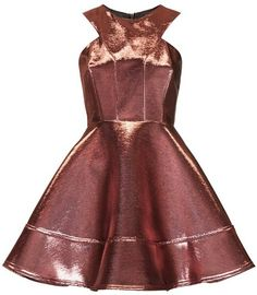 Topshop Metallic Skater Dress.