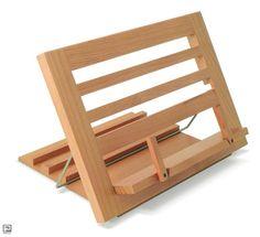 Houten boekensteun. Deze houten boekensteun komt goed van pas in de keuken, studeer- of werkkamer, maar is ook een waar sierraad in in je woonkamer en toont de inhoud van je mooiste boeken. Gemaakt van Canadees...
