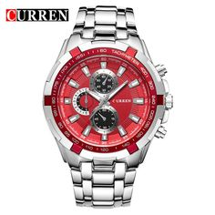 CURREN Military Men Watches Stainless Steel Quartz Wristwatch (without - INNOVATIVE PRODUCTS PORTAL - MyProductPortal.com