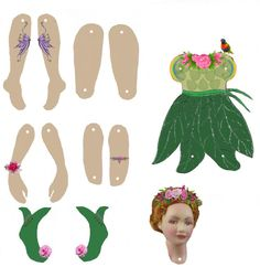 Image result for articulated paper dolls