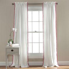 Lush Decor Pom Pom Single Curtain Panel & Reviews | Wayfair