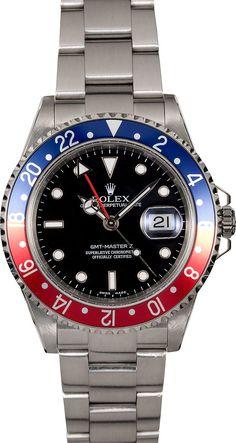 Rolex GMT Master II Ref. 16710 40mm in Steel with Pepsi Bezel