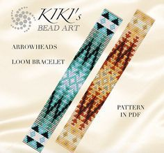 Bead loom pattern Arrowheads ethnic inspired LOOM bracelet