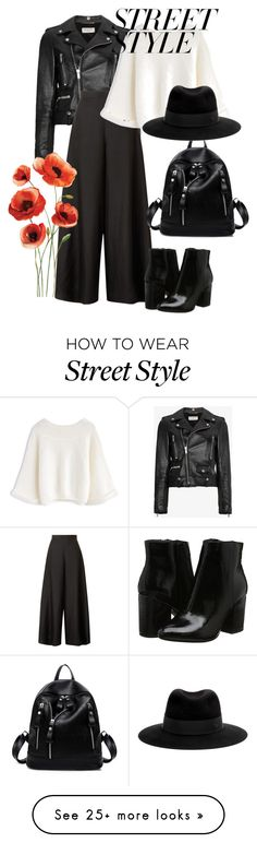 """Street style"" by belle-papillon on Polyvore featuring Yves Saint Laurent, The Row and Maison Michel"