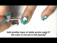 Wear your heart on your sleeves and nails with this fun tutorial from Simply Rins.