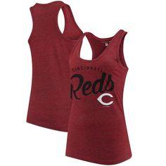 Women's Cincinnati Reds 5th & Ocean by New Era Red Tri-Blend Racerback Tank  Top