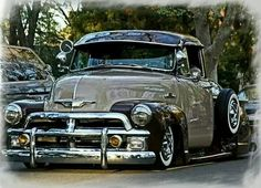 My favorite year!love these trucks Custom Pickup Trucks, Chevy Pickup Trucks, Classic Chevy Trucks, Chevy Pickups, Chevrolet Trucks, Classic Cars, Chevrolet 3100, Lowrider Trucks, Lowrider Art