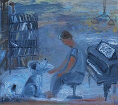"""Инесса Рахманова, х.м. Inessa Rakhmanov,  """"Intermission"""" oil on canvas"""