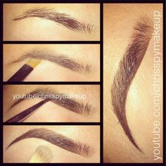New Brows- Steps — CHRISSPY MAKEUP: