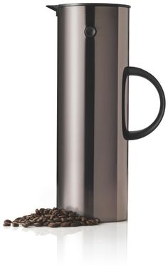 Stelton coffee thermos.  If you have a regular coffee maker, pour it into a thermos and you won't end up with burned coffee.  #kitchen #bridalregistry