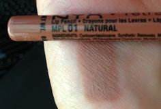 NYX Retractable Lip Liner - 01 Natural | Description: Light nude/tan [Sharalee's Box of Chocolates: Browse My Stash - NYX Lip Liners Review and Swatches]