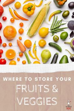 By storing fresh produce in the right environment you can maximize its freshness & longevity and reduce food waste. Where to store fruits & vegetables. Fruit Recipes, Healthy Recipes, Eat Healthy, Healthy Zucchini, Breakfast Healthy, Muffin Recipes, Rice Recipes, Easy Recipes, Breakfast Recipes