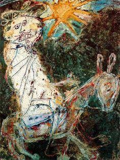 Bedouin on a donkey - Jean Dubuffet