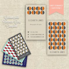 Business Card Template by #FancySchmantzy on Etsy