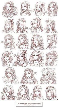 Anime girl hairstyle   Anime Hair Style   Pinterest   Anime Girl