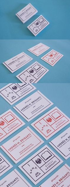 Unique Letterpress Identity | Business Cards | The Design Inspiration