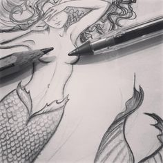 Happiest by the sea 🌊 . . . #biro#sketch#pencilsketch#doodle#mermaid#mermaidtattoo#sealife#mythicalcreature#scales#seacreature#freethenipple#censored#tattoodesign#customdesign#inkfeature#sea#seadesign