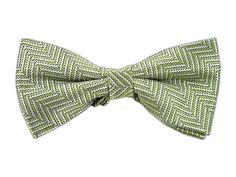 Native Herringbone - Moss (Bow Ties) | Ties, Bow Ties, and Pocket Squares | The Tie Bar