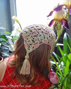 Free Crochet Hair Kerchief Pattern ~By Niftynnifer