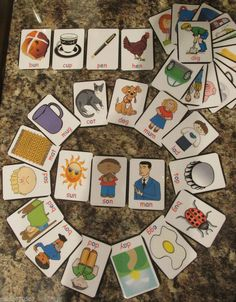 Montessori, reading and writing flash cards 3 letter words x 36 ( 6.5 x 5 cm ) Personal orders taken with your own requirements covered. Text or call me on 07894 736089