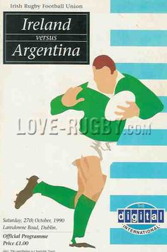 #rugby today 27/10 in 1990 : Ireland 20-18 Argentina - Los Pumas rugby match from Dublin on their 1990 UK rugby tour.  http://www.ticketsrugby.com/rugby-tickets/countries/Ireland-rugby.php